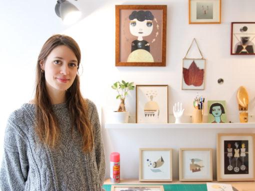 Helena Pallares Ilustration - Portraits et découpages pop - Souffle Chaud